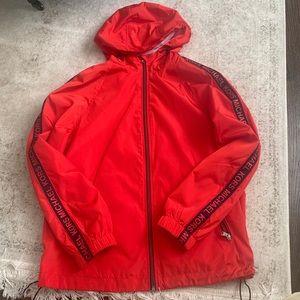 Michael Kors Full Zip Rain Jacket, Medium
